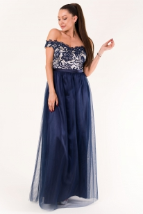 EVA & LOLA DRESS marineblau 60010-3