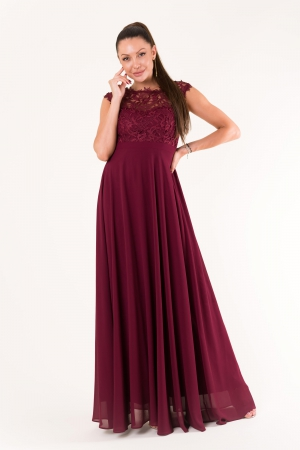 EVA & LOLA DRESS Aubergine 60005-1